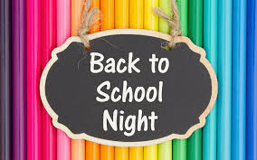 Back to School Night – August 29th at 6:30p.m.