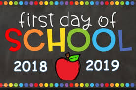 First Day of School! August 27th!
